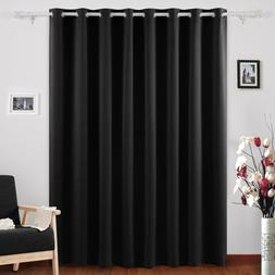 Room Darkening Thermal Insulated Wide Panel Curtains for Bed
