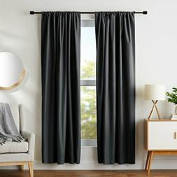 "AmazonBasics Blackout Curtain Set - 52"" x 84"", Black"