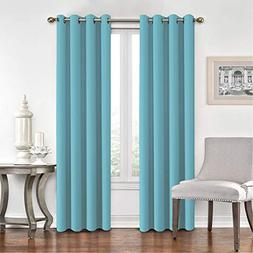 Flamingo P Room DarkeningAqua Curtains for Bedroom/Living Ro