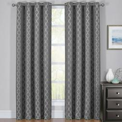2PC Rosaline Thermal Insulated Blackout Curtain Set Jacquard