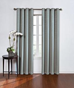 Round & Round Thermawave Blackout Curtain Blue  Eclipse&#153