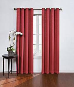 Round & Round Thermawave Blackout Curtain Red  Eclipse™