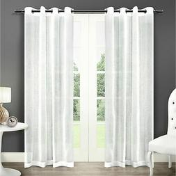 ATI Home Sabrina Sheer Window Curtain Panel Pair with Gromme