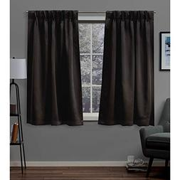 Exclusive Home Sateen Blackout Pinch Pleat Curtain Panel Pai