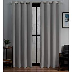 Exclusive Home Sateen Woven Blackout Grommet Top Curtain Pan