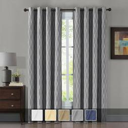 Victoria Blackout Window Curtains 2 Panels Grommet Jacquard