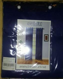 ifblue set of blackout curtains 42 width x 63 length inch na