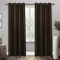 "Home Shantung Curtain Panels - Set of 2 Panels - BROWN- 54""x"