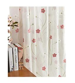 Aside Bside Sheer Curtain Fresh Type Rod Pockets 5 Petals Fl