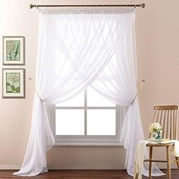 NICETOWN 2-Layer Sheer Curtain Panels for Bedroom Pinch Plea