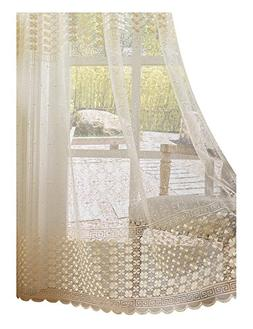 Aside Bside Sheer Curtains Clover Embroidered Elegance Windo