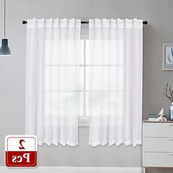 NICETOWN Sheer Curtains Linen Textured - Country Style Home