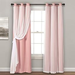 Lush Decor Sheer Grommet Panels with Insulated Blackout Lini
