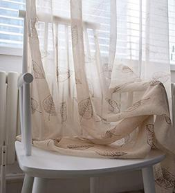 sheer tulle window curtains rod