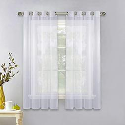NICETOWN Sheer Window Panel Curtains - Grommet Top Sheer Dra