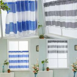 Short Curtain Roman Drapes Home Kitchen Window Bathroom Rod