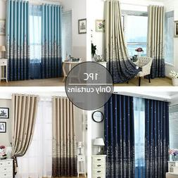 Silver Stamping Treatment Home Decor Blackout Curtain Insula