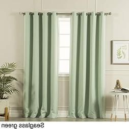 Aurora Home Silvertone Grommet Top Thermal Insulated Blackou
