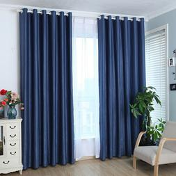 Simple Cotton Linen Blackout Window Curtains for Living Room