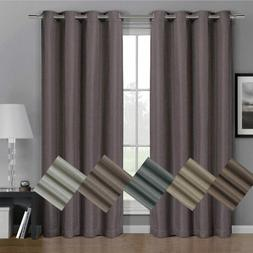Simple Gulfport Faux Linen Blackout Weave Curtains With Grom