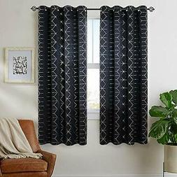 Vangao Sliver Foil Print Blackout Curtains