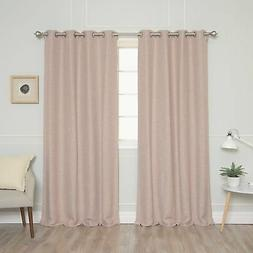 Aurora Home Slub Texture Faux Linen Blackout Curtain Panel P