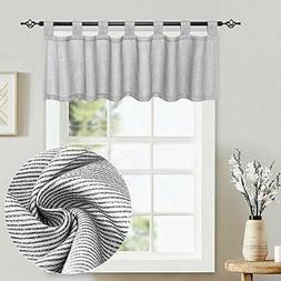 Small Window Valance Curtains - Thermal Insulated Home Decor