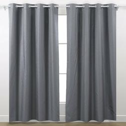 Deconovo Soft Grommet Top Thermal Insulated Blackout Curtain
