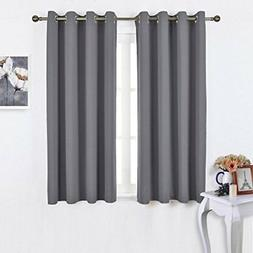 Soft Polyester Blackout Curtains Panels for Bedroom 2 Panels