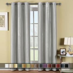 Soho Top Grommet Thermal Blackout Window Curtain Panels Soli