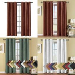 Royal Hotel Soho Rust Grommet Blackout Window Curtain Panel,