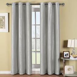Royal Hotel Soho Silver Grommet Blackout Window Curtain Pane