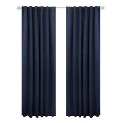 Deconovo Solid Back Tab Curtains Blackout Curtains Thermal I
