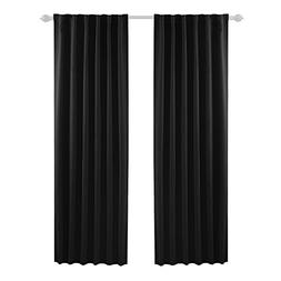Deconovo Solid Back Tab and Rod Pocket Blackout Curtains The