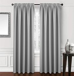 Dreaming Casa Solid Blackout Curtain Bedroom Draperies grey