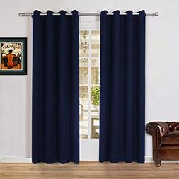 Lullabi Solid Blackout Window Curtain Drapery, Thermal Insul