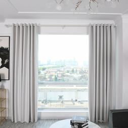 Solid Color Blackout Curtains Office Plant Balcony Insulatio