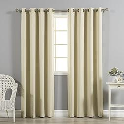 Solid Grommet Top Thermal Insulated Blackout Curtain 95 Leng