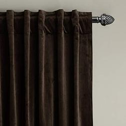 ChadMade Set of 2 Solid Matt Velvet Curtain Panel Drapes Bac