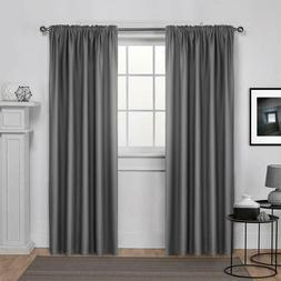 Dreaming Casa Solid Room Darkening Blackout Curtain For Bedr