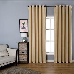 Dreaming Casa Solid Room Darkening Blackout Curtains for Bed