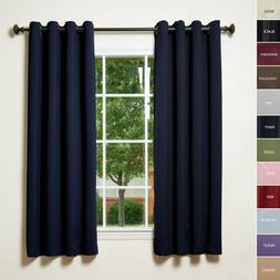 ChadMade Solid Thermal Insulated Blackout Curtains 52Wx108L