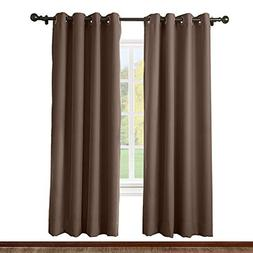 ChadMade Solid Thermal Insulated Blackout Curtains Drapes An