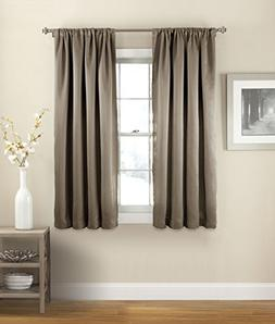 Eclipse Solid Thermal Single Window Curtain Panel, 54 x 54,