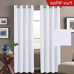 H.VERSAILTEX White Linen Curtains 84 Room Darkening Linen Lo