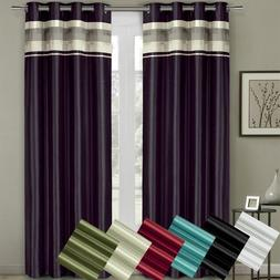 Sophisticated Milan Lined Polyester Blackout Curtains with G