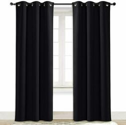 Soundproof Thermal Insulated Blackout Curtain Solid Grommet