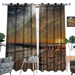 Space Waterproof Window Curtain Magical Solar Eclipse on Bea