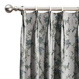 ChadMade Spring Blue Flowers Country Print Cotton Curtains 7