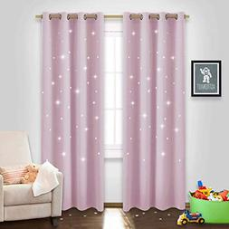 NICETOWN Star Cut Out Curtains - Die-Cut Star Blackout Drape
